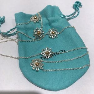 Tiffany&Co Silver with 18k daisy journey necklace